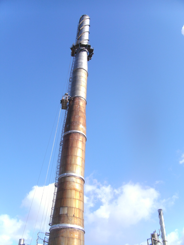 Structural Repairs To 56 1m High Steel Chimney Uk