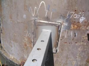 Damper Securing Brackets Installed