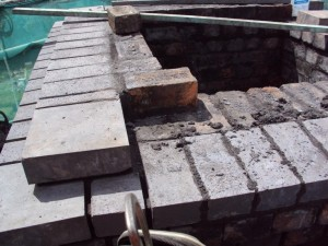 Re-build of Chimney Head Brickwork