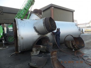 Steel Chimney Dismantling