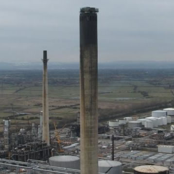 151M HIGH CONCRETE CHIMNEY WORKS UK