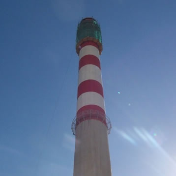 123M HIGH CONCRETE CHIMNEY WORKS LITHUANIA